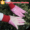 SRSAFETY lady gardening gloves with pvc dotted on palm work gloves,China supplier / working garden saferty gloves