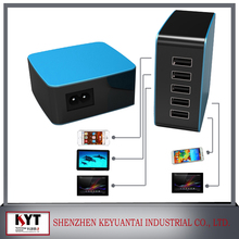 5 puertos USB cargador inteligente