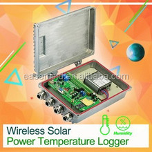 Promotional and Best Quality silvery Wireless Temperature Humidity Data Logger with Solar Power panel