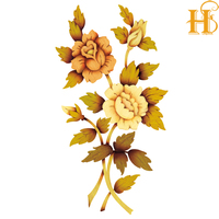 HS decorative wood antique furniture decals for ceramic tiles /decals for glassware
