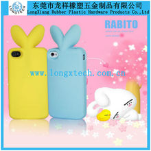 rabbit shape silicone mobile phone case,3d silicone phone case