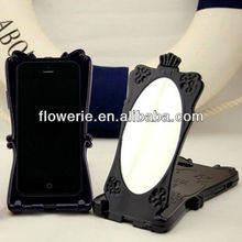 FL2496 2013 Guangzhou hot selling magic mirror butterfly case for iphone 5 5G