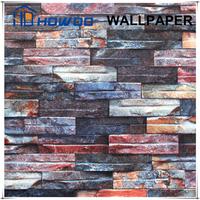 Howoo 3d brick real effect 2015 hot sale 3d wallpaper