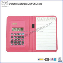 Good Quality Hot Sale Handmade Leather Calculator Padfolio