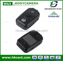 Long time recording small 2.0inch LCD megapixcel security guard body worn camera