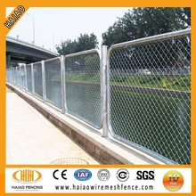 High quality galvanized used chain link fence panels