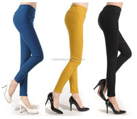 20Color 2015 Brand New Plus Size Solid Cotton Causal Fitness Women Leggings Slim High Waist Elastic Sexy Leggings