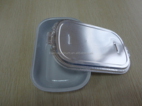 Convenient Pollution-free Disposable Airline Aluminum Foil Food Container Serving Tray High Quality Fast Food Serving Tray