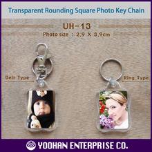 Rounding Square Blank Acrylic Photo Frame Key Chain