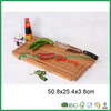 FB2-1241 bamboo vegetable fruit cutting board with knife holder