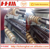 Slip shaft automatic high speed PP film slitting machine from HHM