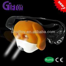 eye flashign puppy headlamp for kids