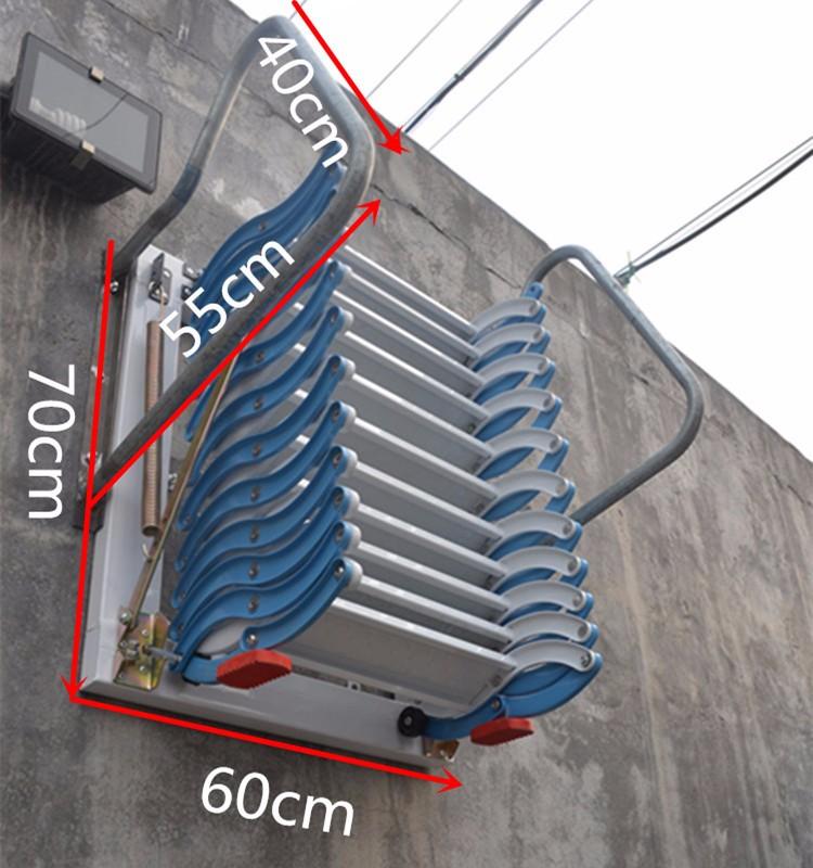 Neue design außen und innen kohlenstoffstahl wandklapp treppen ...