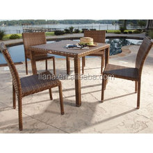 Outdoor patio furniture 5-Piece Wicker Dining Set-China