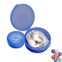 China wholesale cheap price high quality logo printed earphone with Round Case