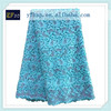 Buy fabric from china blue color cupion lace guipure lace/ silver metallic embroidery lace fabric/ wholesale french lace