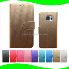 Bulk Buy From China Slim PU Luxury Leather Phone Case With Card Slot for Samsung Galaxy S6 New Products for 2016