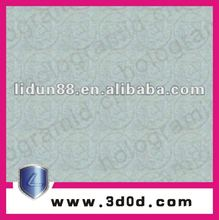new arrive Lianlong brand embossing watermark security paper with visible/invisible fibers