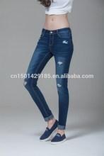 Fuente de la fábrica& de primavera verano de moda las niñas spot slim jeans lápiz