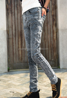 Suply new style acid wash denim jeans and boy sex jean pants, custom jeans for men