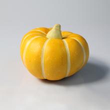 Verduras de plástico de color amarillo calabaza para la decoración casera