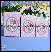 Custom decorative gift nesting boxes UV lacquer for LOGO and icons