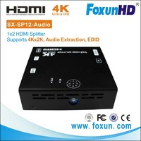 SX-SP12-Audio Audio/Video Home Theatre System HDMI Splitter 1x2 with Audio Extractor , 4k2k, EDID, 3D