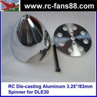 "RC Die-casting Aluminum 3.5""/89mm Spinner for DLE55"