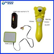 OEM manufacturer kids TV video talking pen,2.4G smart talking pen,children smart pen with 2.4G video transmission Box