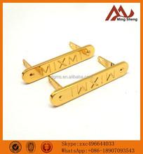 elegant golden metal labels for clothing
