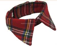 Christmas Plaid Fabric Pet Collar Accessories
