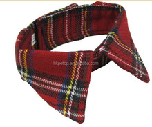 Christmas Plaid Fabric Pet Collar Accessories