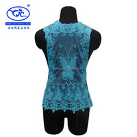 YJC14848 Lastest Fashion Guipure Lace Crochet Embrodiery Ladies Garment 2014