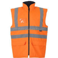 welding leather sleeve flow in dark high visibility reflective protective vest