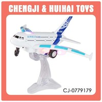 2015 Hot selling rc remote control plane airbus with light & music