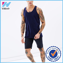 Yihao On sell men tank top Jersey 100% cotton running singlet racerback tank top