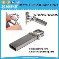 Key Chain Metal USB 2.0 3.0 Flash Drive Pen Drive/rectangle USB 2.0 memory stick