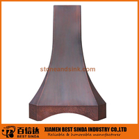 Traditional fashion copper wall mounted range hood