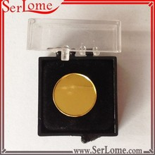 Round Blank Stamped Iron Coin with Transparent Box