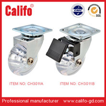 CH 3011 Good sale high quality PU transparent chair caster & caster wheel