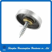 Factory supply decorative head mirror screw with decorative cap