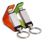 Promocional melhor presente preço de fábrica logotipo relevo print couro usb flash drive