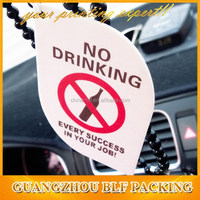 (BLF-AR109) scented air freshener to no drinking warning two color printing