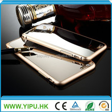 smart phone hot new products for 2015 Aluminum mirror metal case cover for iphone 6 case