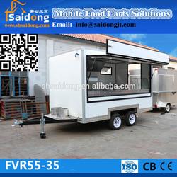 Outdoor mobile coffee vending trailer/electric food van price