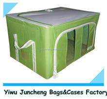 Solid Green Fabric Home Storage and Organization/Steel Wire Storage Box