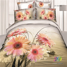 famous brand printed bed sheets set 100-percent 4 pieces quilt cover sets