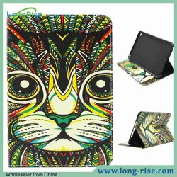 Newest Wallet Flip Leather Tablet Cover for iPad Mini 4 Case with Card Holder