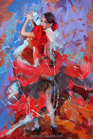 Fashion decorative dance painting for decor high quality american hot sexy girl picture