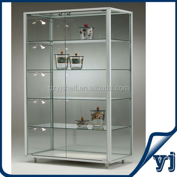 cheap lockable glass display cabinets 2